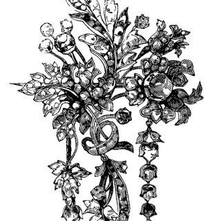 Ornamental Victorian Brooch Clip Art