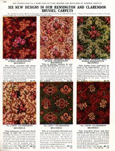 vintage carpet designs free antique catalog page clip art