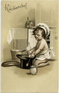 child chef free vintage illustration