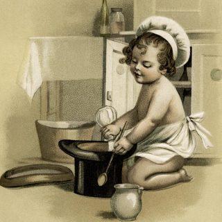 Child Chef Vintage Illustration