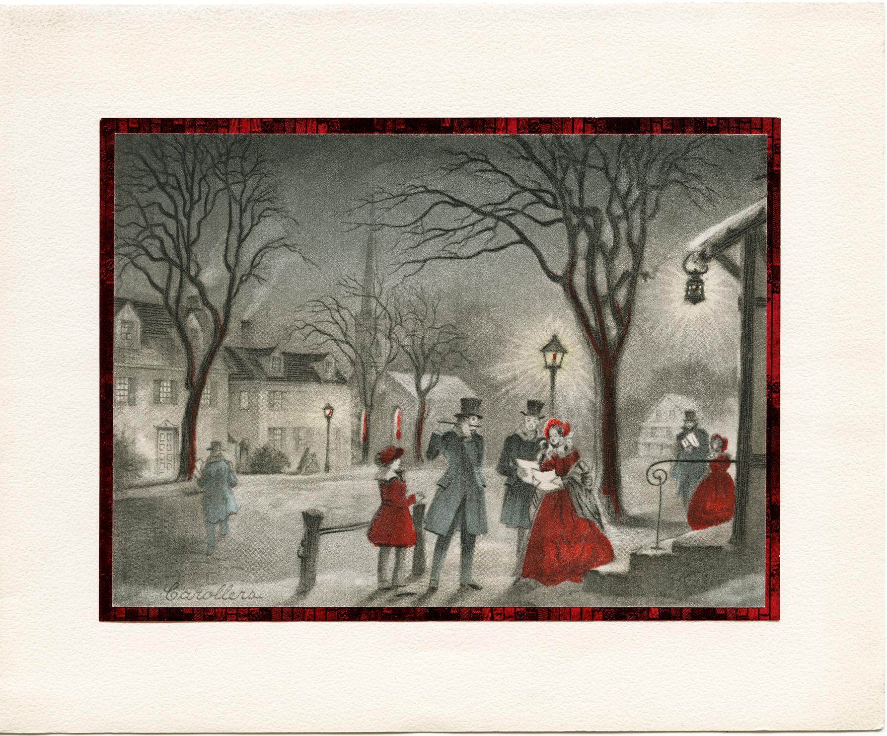 Victorian Christmas Carollers - Old Design Shop Blog