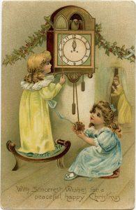Free vintage Christmas postcard digital