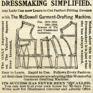 Vintage Garment Drafting Machine for Sewing