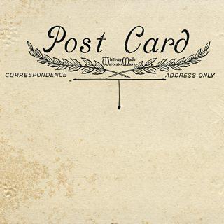 Free vintage postcard digital