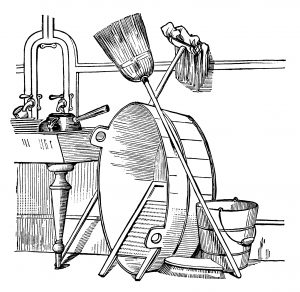 vintage house cleaning supplies clip art