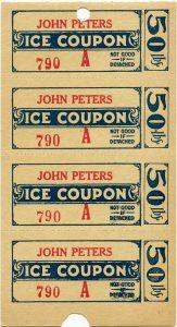 free vintage ice coupons digital ephemera