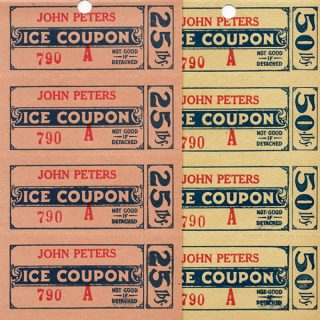 Vintage Ice Coupons