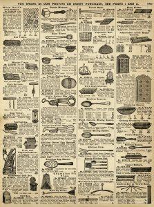 Free vintage kitchen utensils printable catalog page