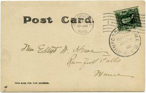 vintage postcard back digital
