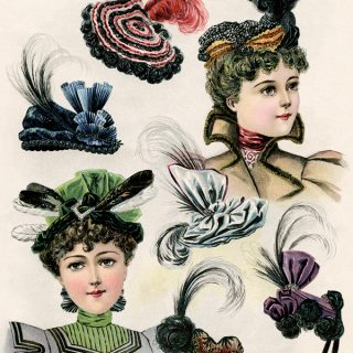 Free Victorian hats for ladies book page