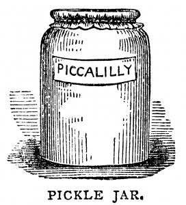 Free vintage pickle jar piccalilly clip art illustration