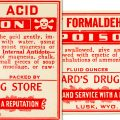 vintage red white poison label free clip art