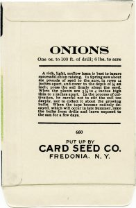 Card Seed Co onion seed packet back free vintage clip art