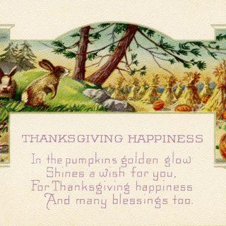 Vintage Thanksgiving Postcard Clip Art