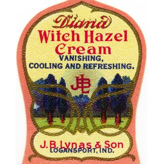 Free vintage witch hazel label clip art