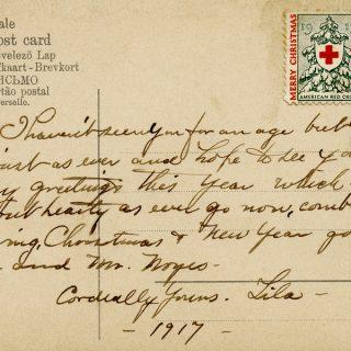 Free vintage postcard back handwritten