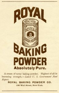 Free vintage royal baking powder advertisement printable