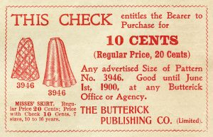 Free vintage printable sewing ephemera coupon