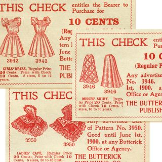 Vintage Sewing Coupons Ephemera