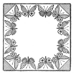 Free vintage butterfly clip art frame