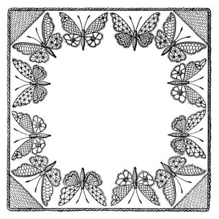 Vintage Butterfly Clip Art Frame