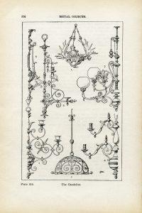 Free vintage chandelier clip art illustration