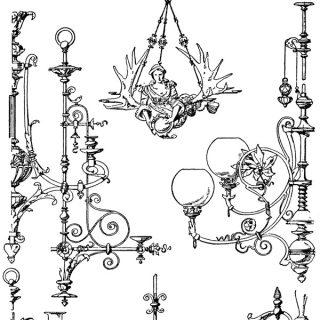 Vintage Chandelier Clip Art