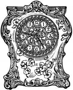 Free vintage clock clip art