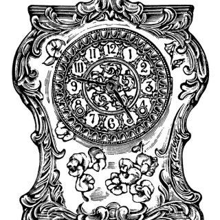 Victorian Clock Clip Art