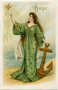 free vintage virtue hope postcard image