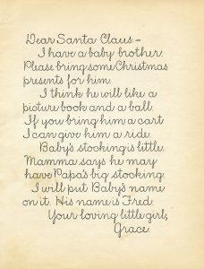 free vintage letter to Santa