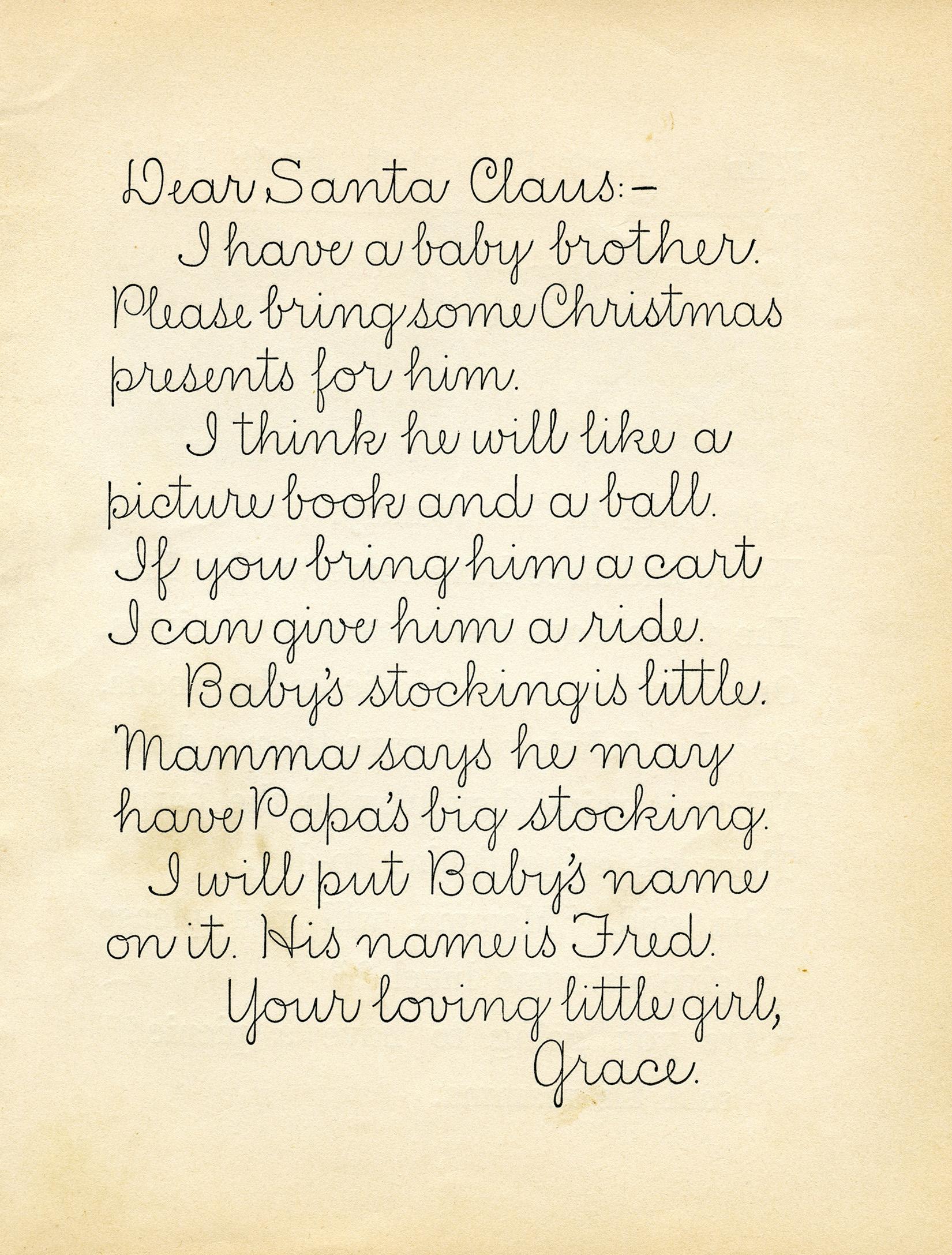 Vintage letter to santa old design shop blog vintage letter to santa spiritdancerdesigns Choice Image