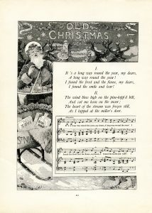 free vintage illustrated Christmas poem