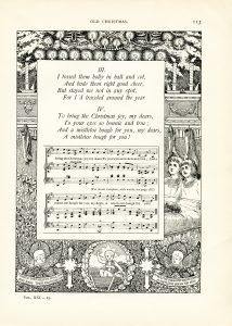 free vintage illustrated Christmas poem