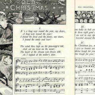 Vintage Illustrated Christmas Poem