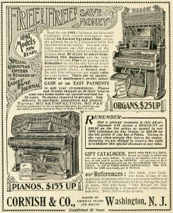 Free vintage printable magazine advertisement piano