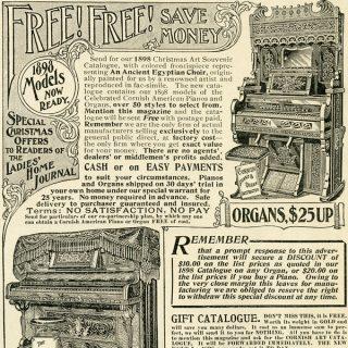 Vintage Piano Organ Advertisement