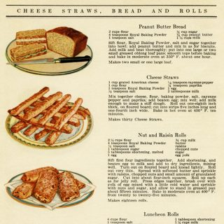 Free vintage illustrated cookbook page digital