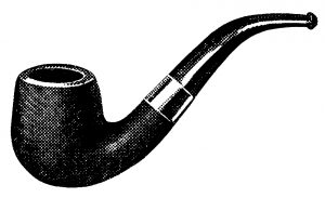 free vintage clip art smoking pipe