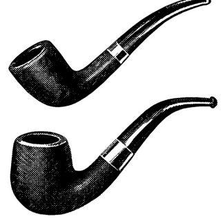 Vintage Smoking Pipe Clip Art
