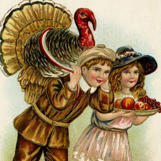 Vintage Thanksgiving Postcard Image