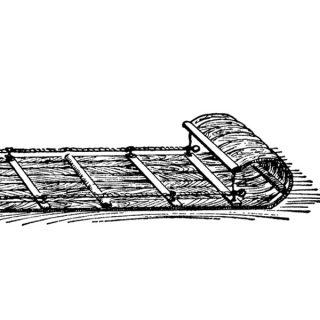 Free vintage toboggan clip art illustration