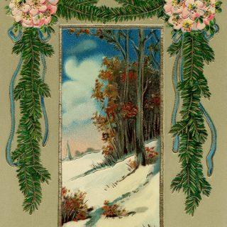 Vintage Scenic Christmas Image