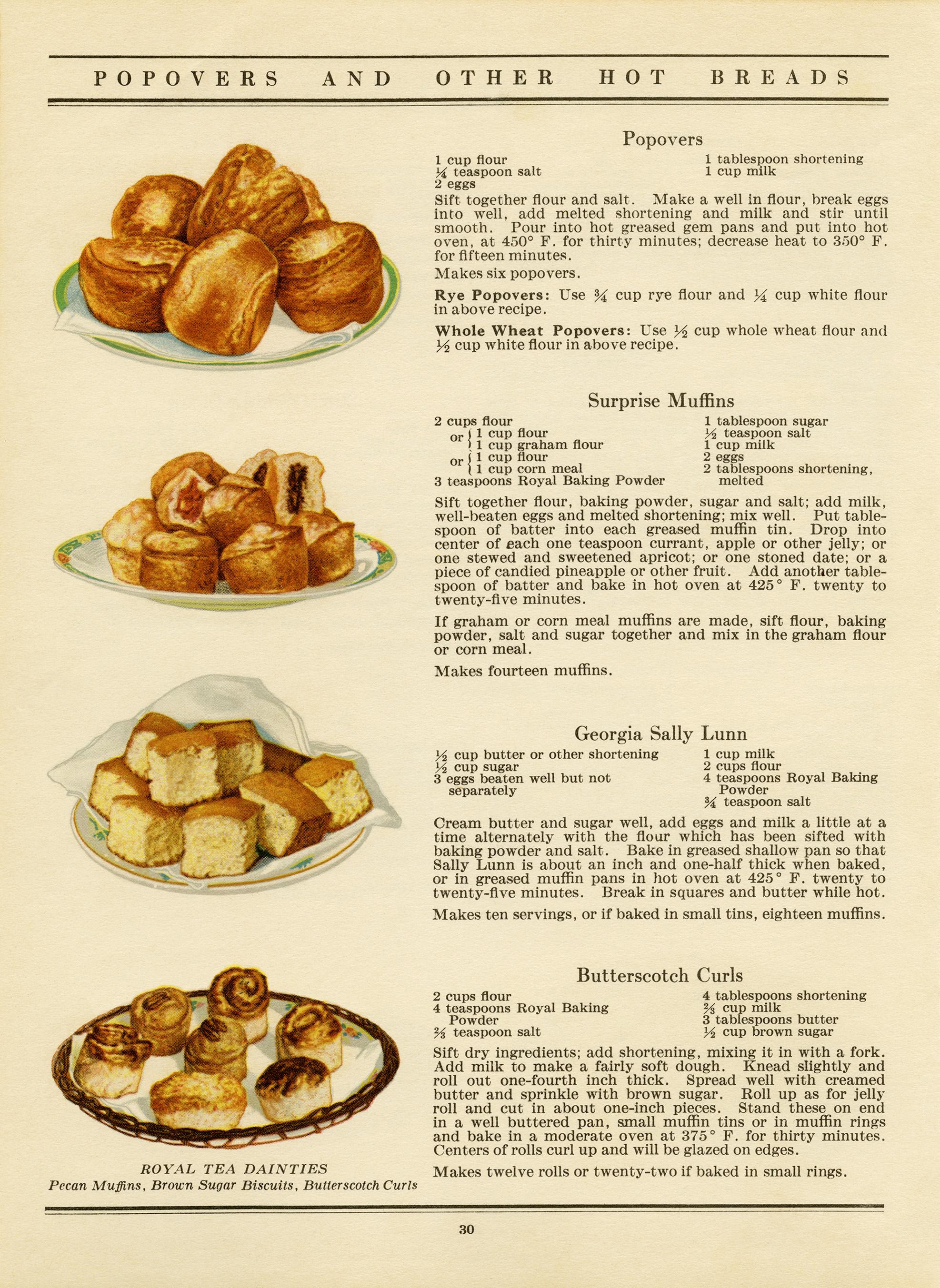 Vintage Hot Bread Recipes   Old Design Shop Blog
