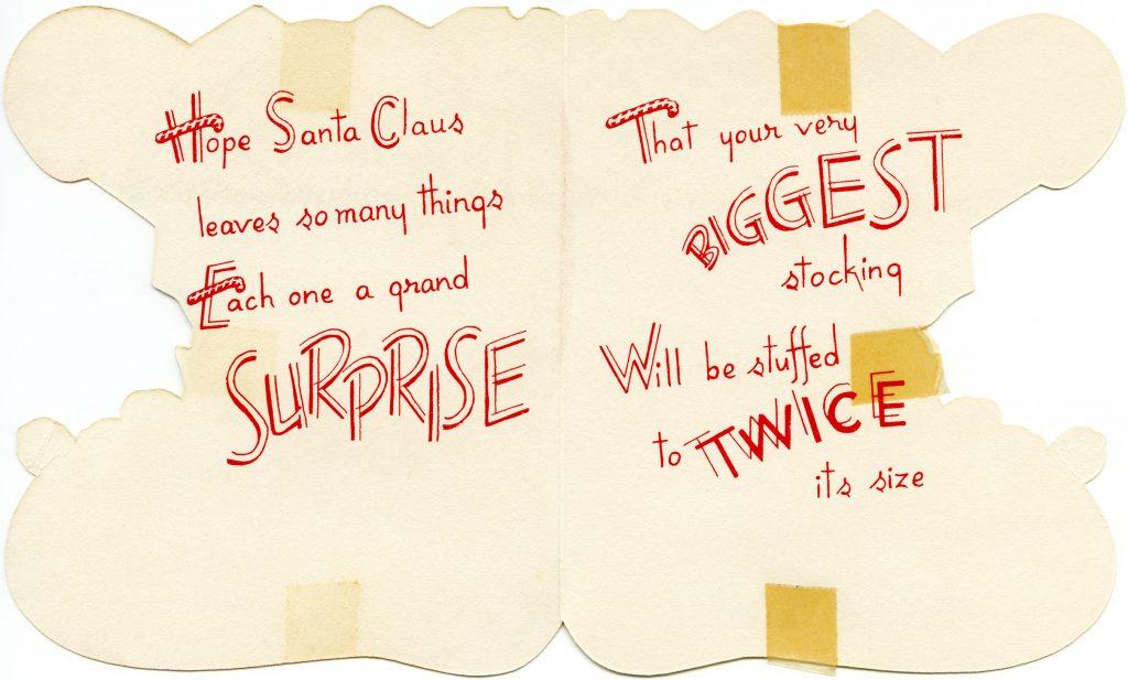 Free printable vintage Christmas greeting card