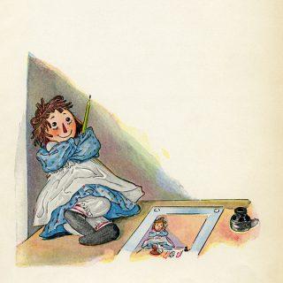 Free vintage printable Raggedy Ann story book page