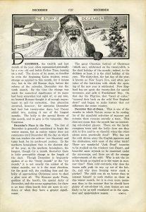 Free vintage printable book page Santa