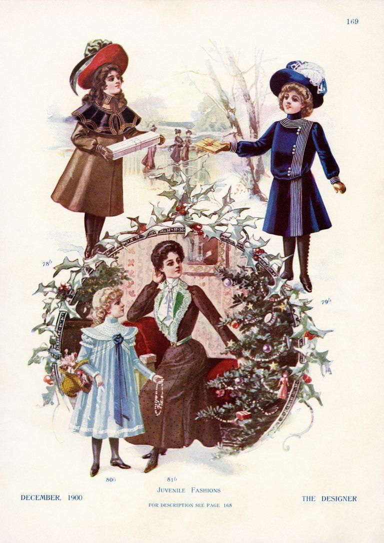 Victorian Girls Winter Fashion