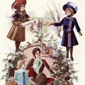 Free printable Victorian juvenile fashion plate