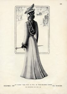 Free printable Victorian lady fashion plate